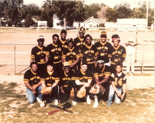 My dad is on far left; back row. My uncle is right next to him, and my cousin is next to him in the sunglasses.